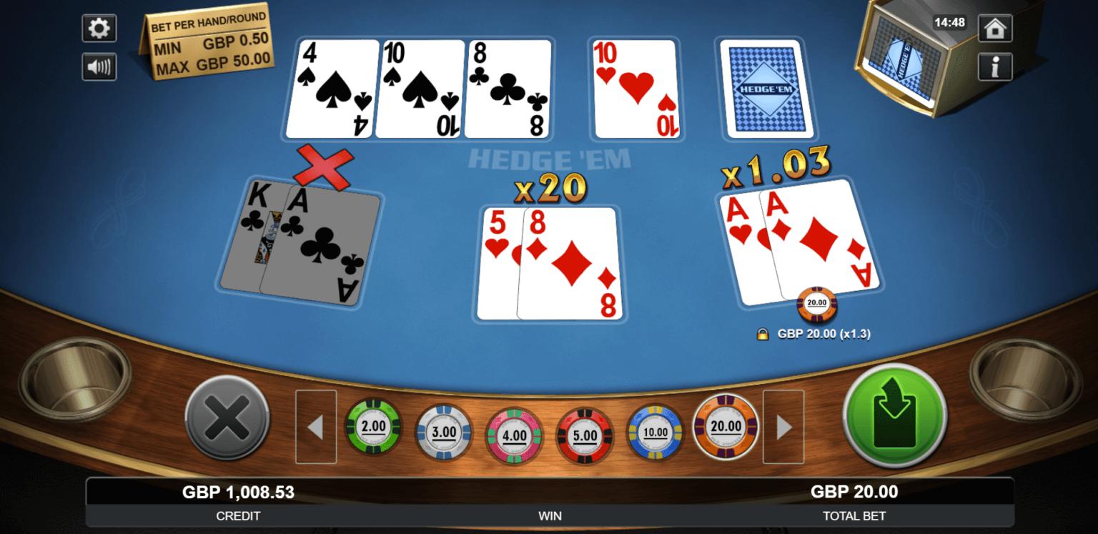 A special variation of Texas Hold'em called Texas Hedge'em